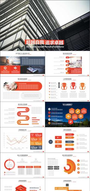 商务介绍产品销售总结计划通用PPT模板