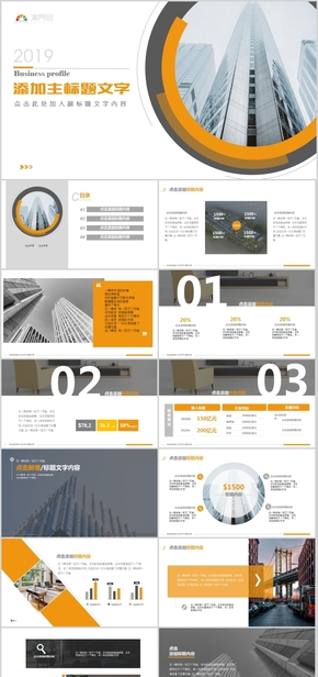 黃色大氣商務模板