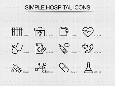 医院图标ppt图表_2373698