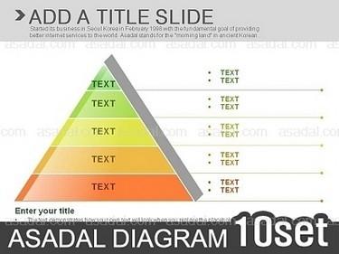 浅灰底多色立体金字塔层级关系ppt图表(静)20张