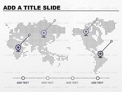 世界地图型ppt图表_2142660