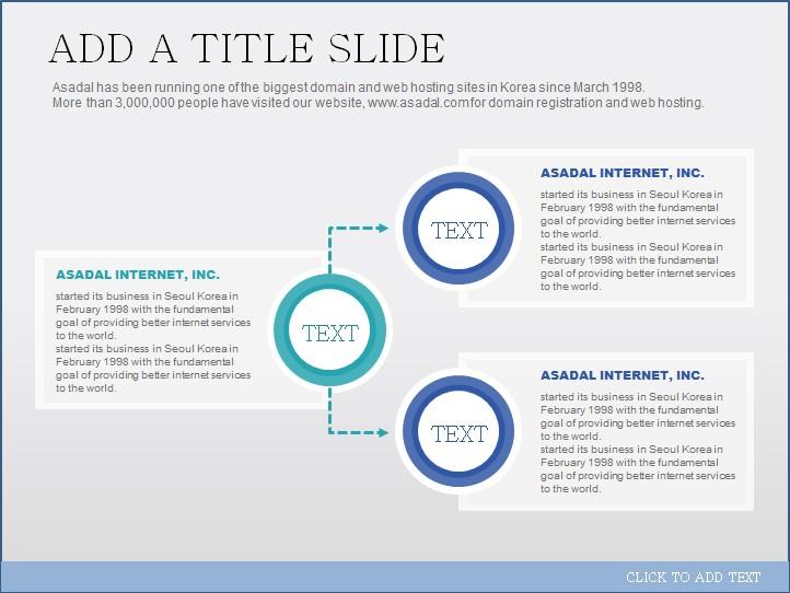 浅蓝简洁圆形分类树形ppt图表