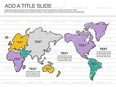 剪贴画世界地图图表模板_2332398