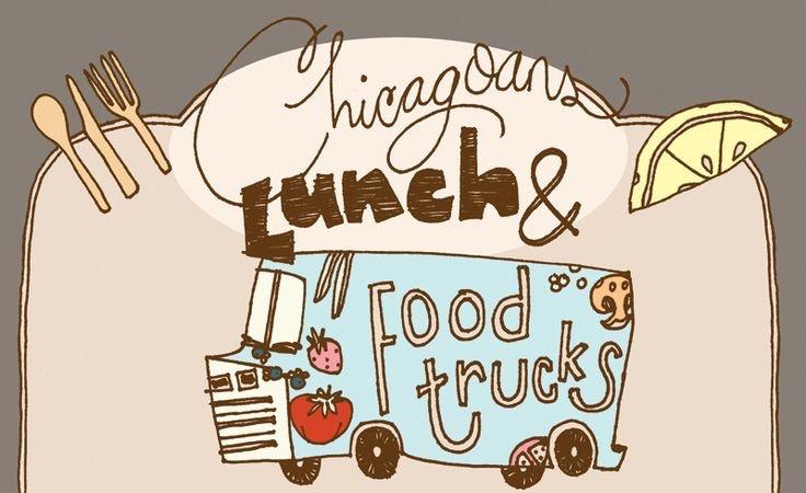 【演界信息图表】手绘卡通-芝加哥午餐和餐车