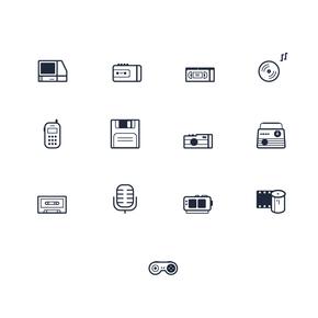 可爱线条复古小图标icon
