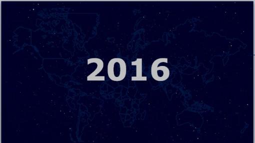2016蓝色大气星空背景商务工作汇报ppt模板