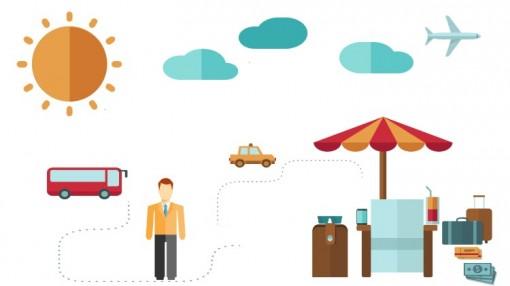 矢量平面设计概念图电影音乐制作旅游度假娱乐游戏