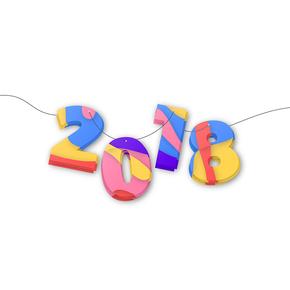 矢量2018数字设计丰富多彩图形