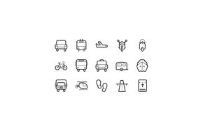 交通工具矢量图标icon