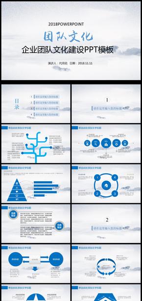 企业团队管理情感式营销销售PPT模板