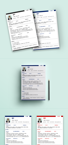 實用,簡歷,求職簡歷,通用簡歷,一頁紙簡歷,極簡,多彩配色