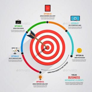 【演界信息图表】ai设计-企业目标市场营销概念