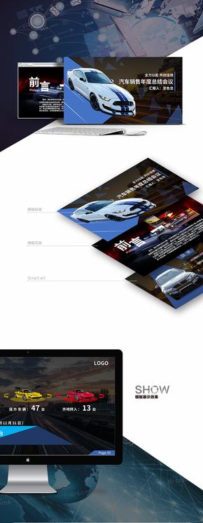 【内容模板01】汽车销售年终总结高端动态模板