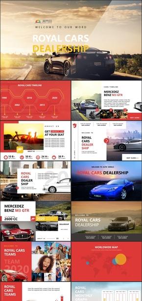 高端時尚汽車行業工作總結匯報PPT模板