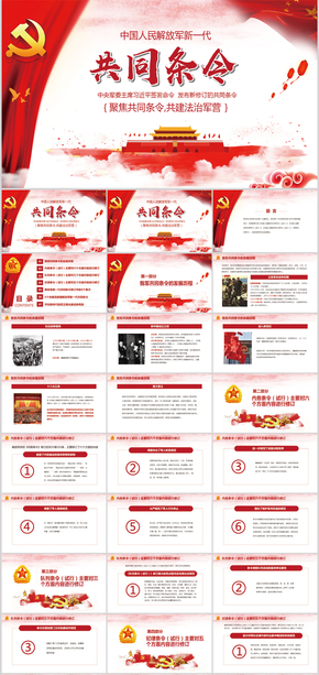 新修订中国人民解放军新一代共同条令PPT模板