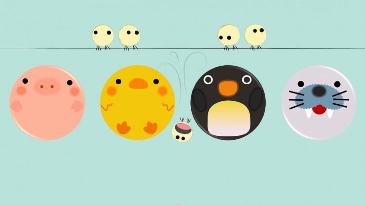 可爱小动物图标