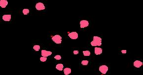 粉色桃花花瓣漂浮元素
