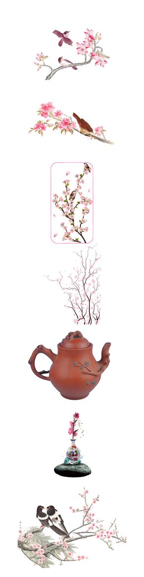 桃花元素素材圖片·PNG格式