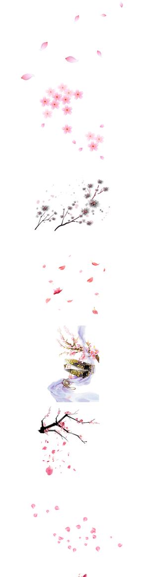 桃花元素图片素材PNG格式3