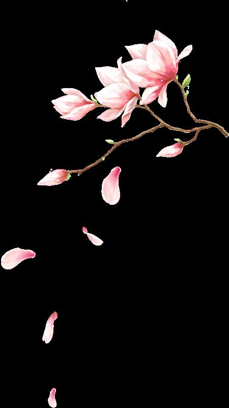 作品标题:创意水彩手绘粉红色的桃花