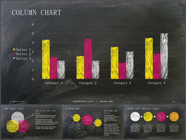 黑板粉笔画风格ppt 数据分析
