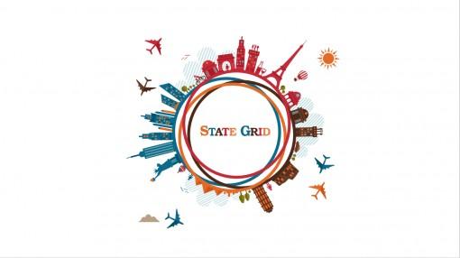 国家电网logo 变体动画