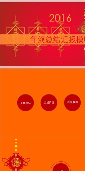 2016中国结年终总结PPT模版