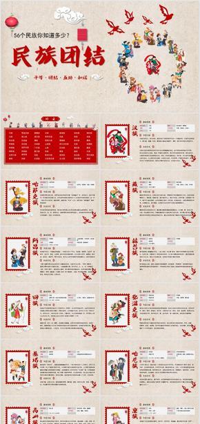 中国梦-56个民族大团结PPT学生课件
