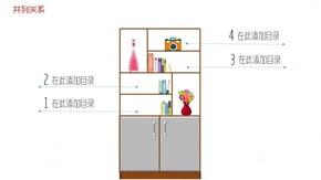 家具 书柜 并列关系 动画