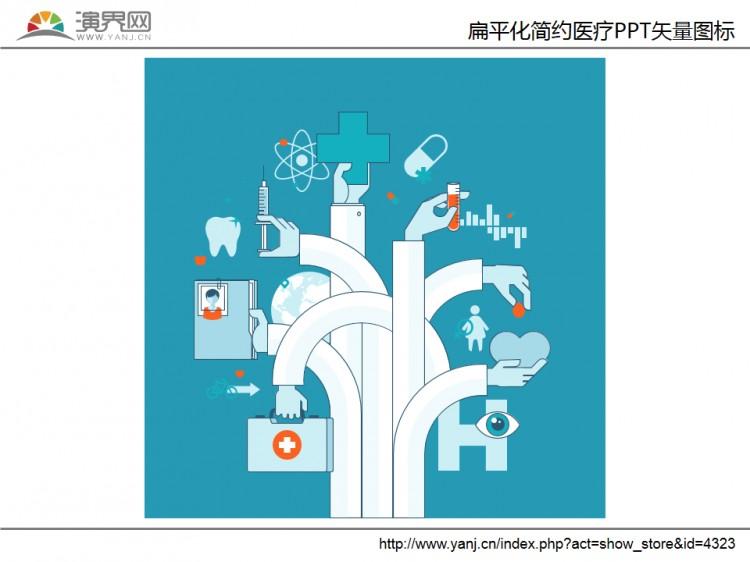 扁平化简约医疗ppt矢量图标