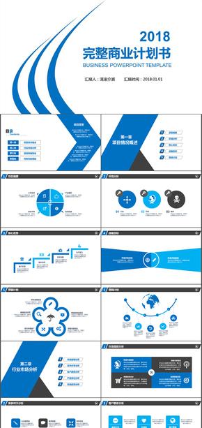 简洁实用框架完整商业计划书策划书