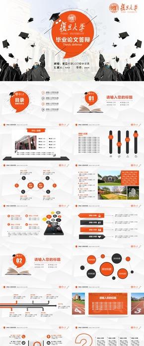 橙色扁平创意毕业设计毕业答辩研究生开题报告PPT模版