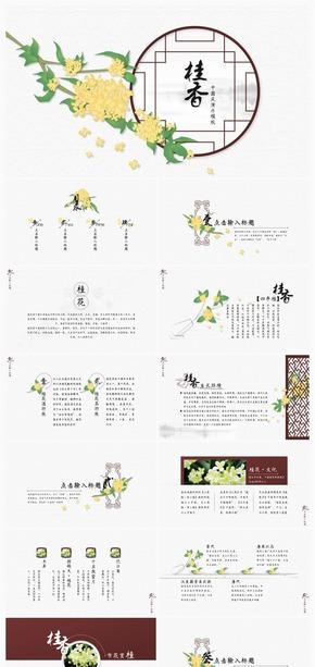 【一念】桂香·古典黄褐中国风多行业展示模板