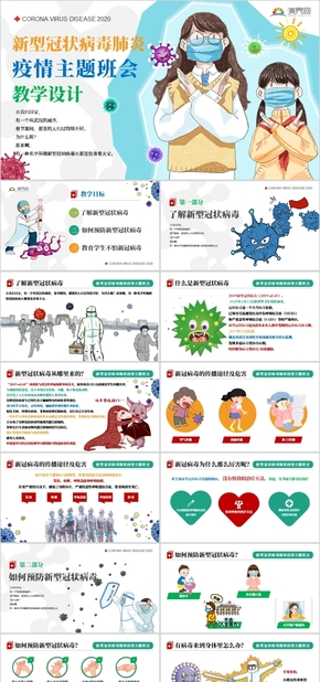 新型冠(guan)狀病(bing)毒肺炎疫情主題班(ban)會教學設計PPT