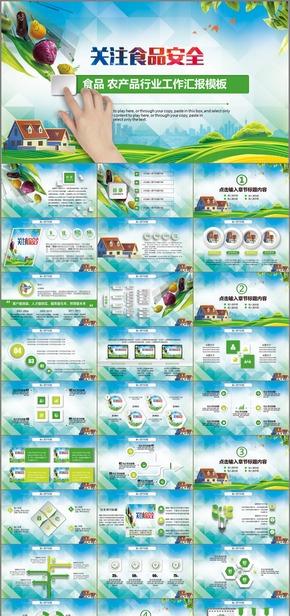 绿色环保 食品 农产品 行业工作汇报 工作总结模板