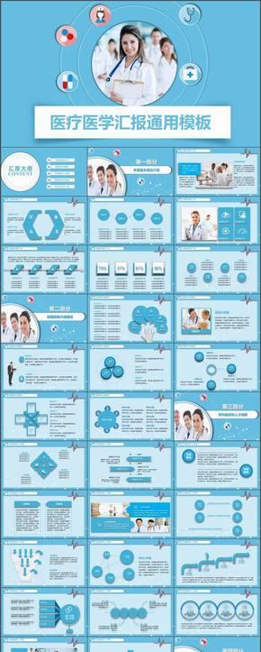 创意大气 医疗 医药 医生 工作总结 年底汇报 新年计划模板