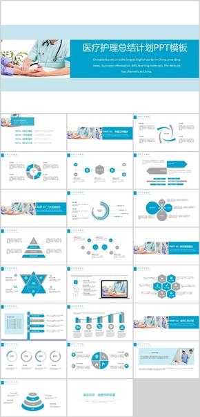 医疗护理行业总结计划PPT模板