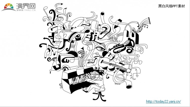 黑白涂鸦风格ppt - 演界网,中国首家演示设计交易平台