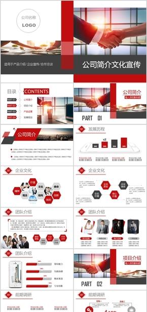 2018年企业宣传画册企业文化介绍项目介绍PPT模板