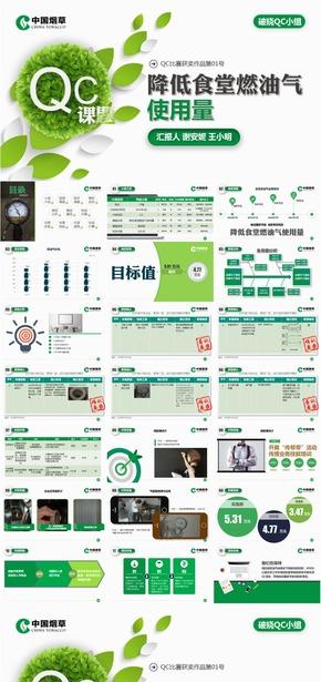 中国烟草QC课题发布比赛PPT模版