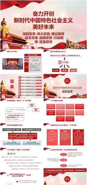 新时代中国特色社会主义-深刻变革-伟大实践-理论指导-基本方略-战略安排-行动纲领-坚强领导