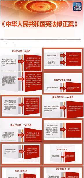 最新中华人民共和国宪法修正案详细讲解