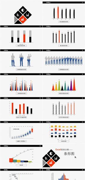精致动画图表-可直接修改数据使用
