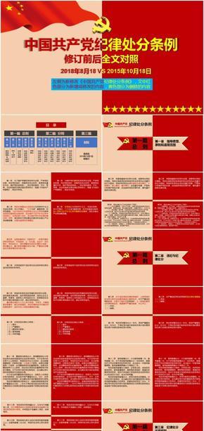 《中国共产党纪律处分条例》修订前后全文对照解读