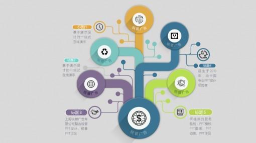 树状图微立体ppt图表 - 演界网,中国首家演示设计交易