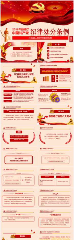中国共产党纪律处分条例解读ppt模板