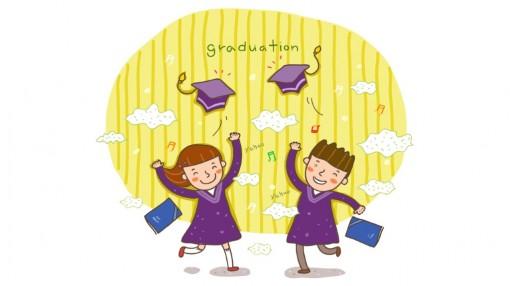 毕业矢量手绘卡通可爱风格素材封面