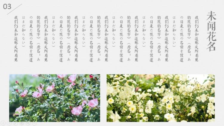 日系小清新文艺ppt模板