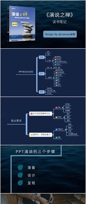 藍色全圖型《演說之禪》讀書筆記