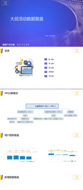 數據分析PPT模板以及參考數據圖表